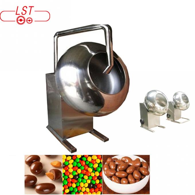 Electrical Heater Small Chocolate Coating Pan Machine 12 Month Warranty