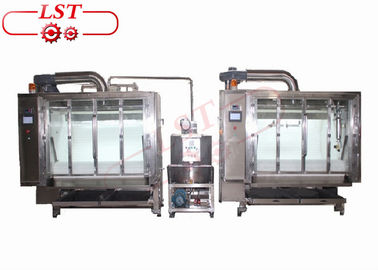 China 200kg capacity Belt Chocolate Coating Machine supplier