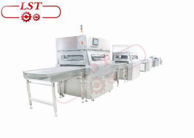 Customized Chocolate Enrobing Machine With Air Blowing And Tail Cutting