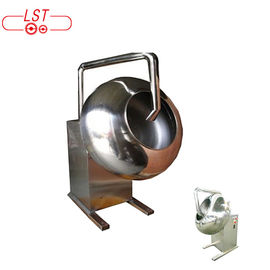 Small Size Chocolate Coating Machine Candied Nut Machine In Silver Color