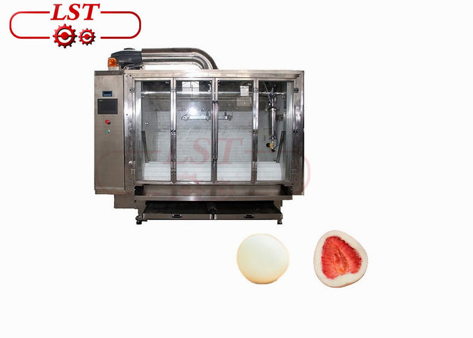 Customized Voltage Chocolate Coater Machine CE Certification For Dry Fruits